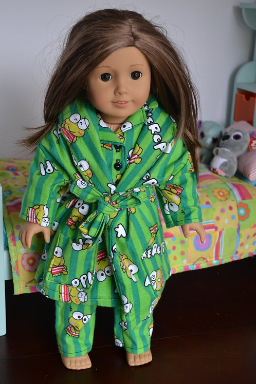 Cartoon Frog Robe for 18 inch Dolls