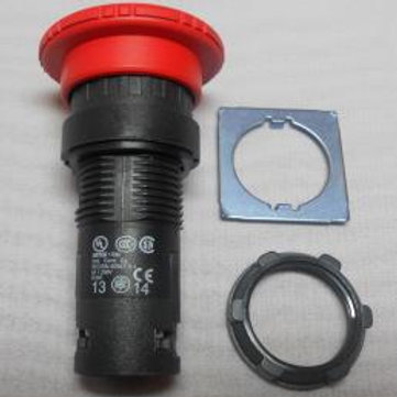 Кнопка с фиксацией красная грибок BACO L22EC01