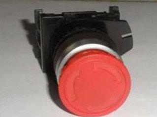 Кнопка красная грибовидная 1НО+1НЗ возврат поворот