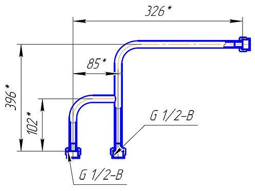 Трубопровод ЦТ 129М.03.840 (Ч образный)