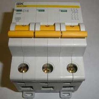 Выключатель автоматический ИЭК ВА47-29 16А ЗП