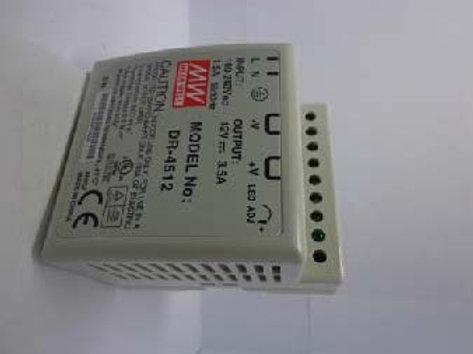 MW DR-4512 Input: 100-240Vac, 1.5F