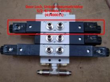 Unlock Pneumatic Valve 5/2, Bi-stable, 24VAC