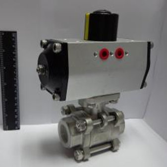 1''St.St.Ball valve with pneumatic acturator