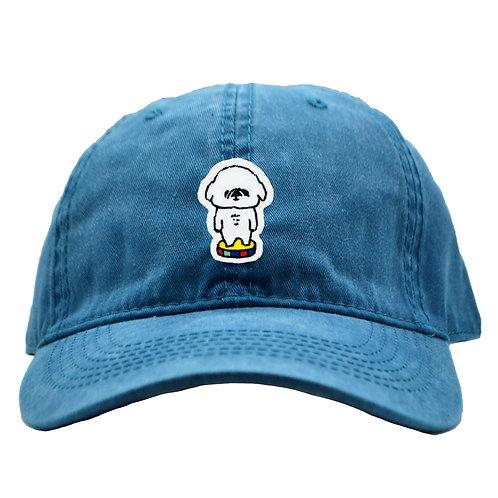 刺繍キャップ_ペキニーズ(ブルー)