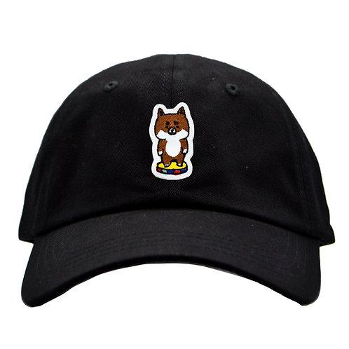 刺繍キャップ_柴犬(ブラック)