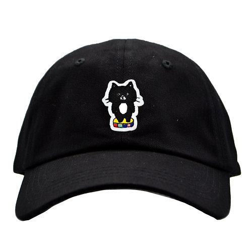 刺繍キャップ_黒猫(ブラック)