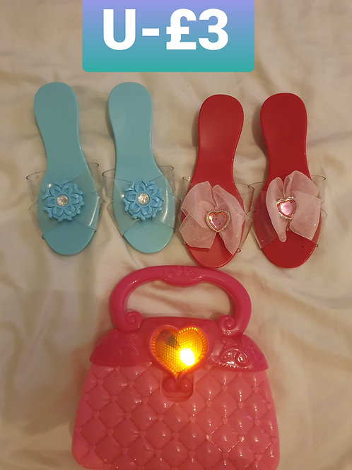 Toddler dress up shoes and bag