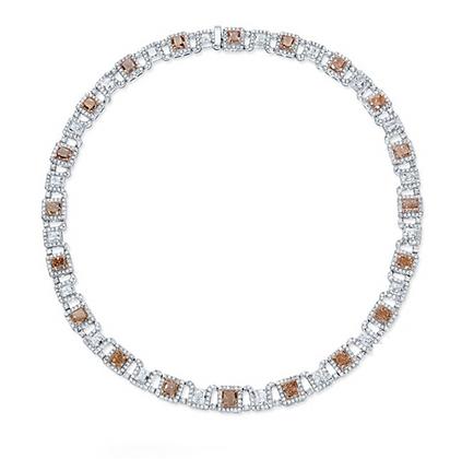 18K FANCY DIAMOND NECKLACE