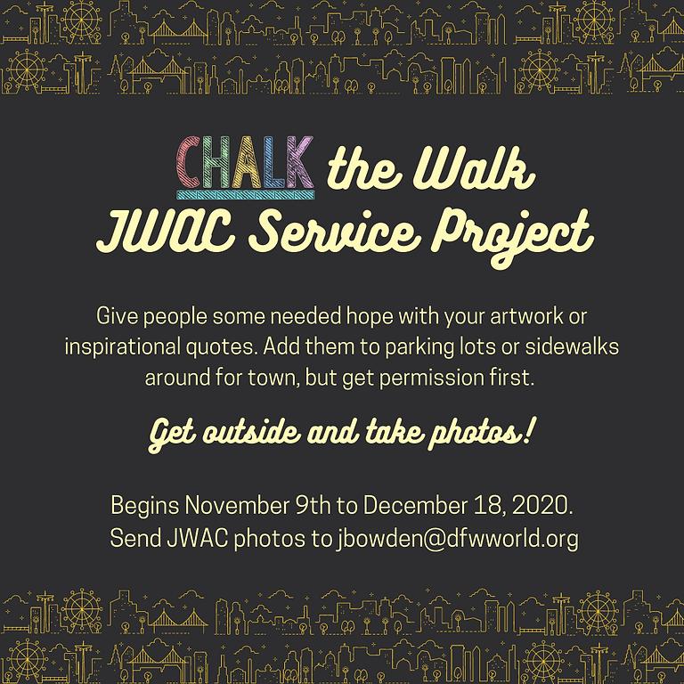 JWAC Service Project: Chalk the Walk