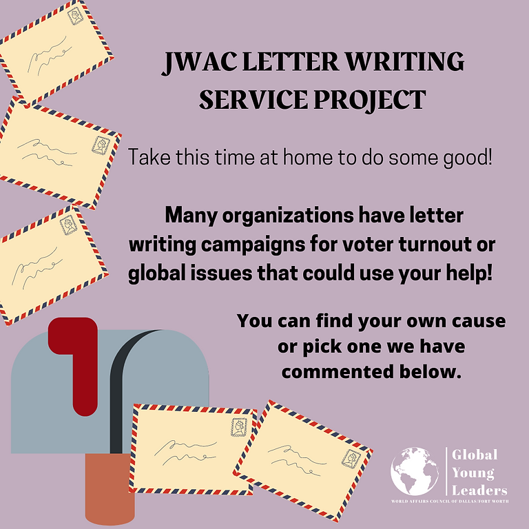 JWAC Service Project: Letter Writing