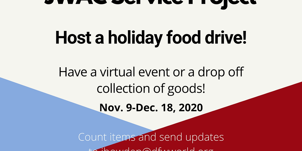 JWAC Service Project: Host a Holiday Food Drive!