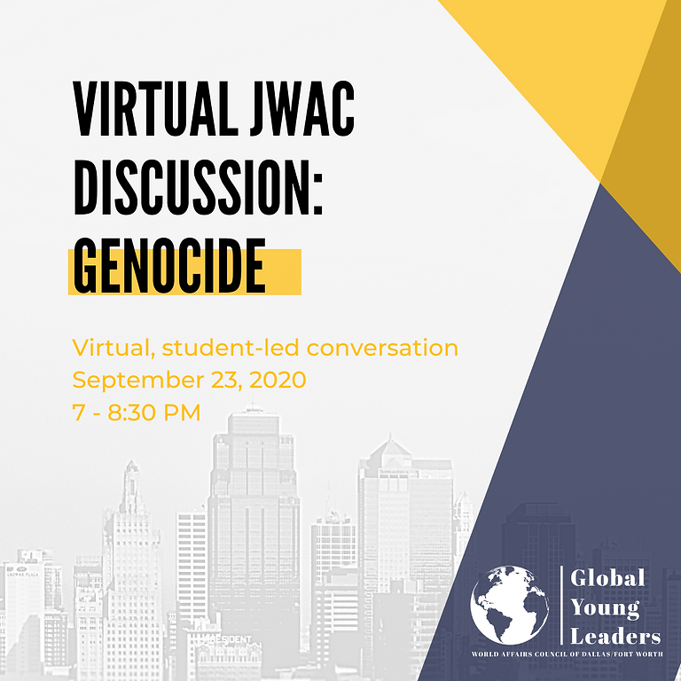 JWAC Virtual Discussion: Genocide. *NOW December 9th, 6-7:30PM