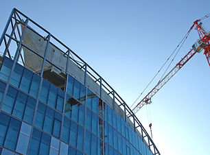 Edifício sob a construção
