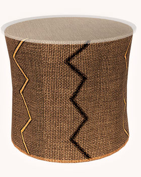 Side table with with different African p