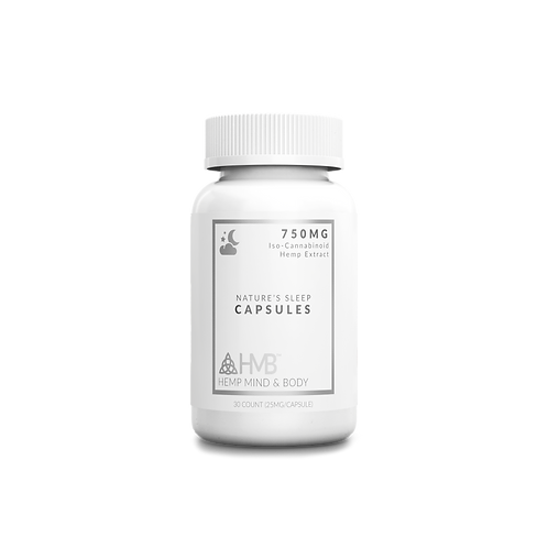 Nature's Sleep Capsules | Iso-Cannabinoid Hemp Extract | 750MG