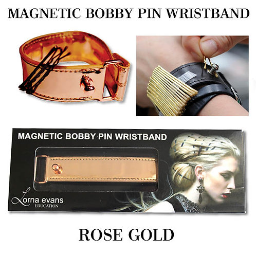 Magnetic Bobby Pin Wrist Band - Rose Gold