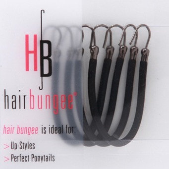 Hair Bungee Silicon - Black