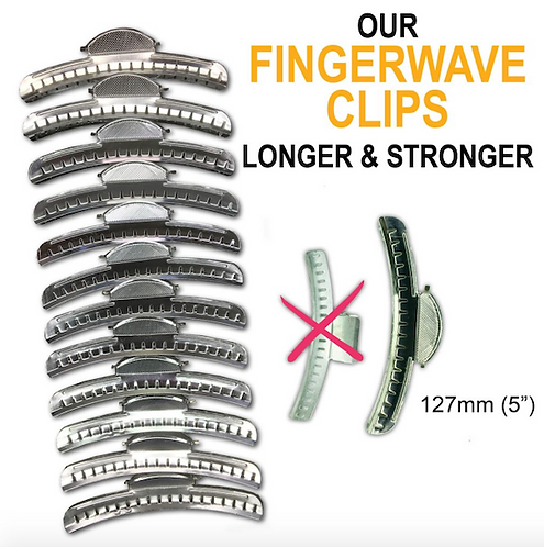 Wave Clips Silver