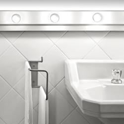 Double Towel rail perpendicular by Elmar Thome
