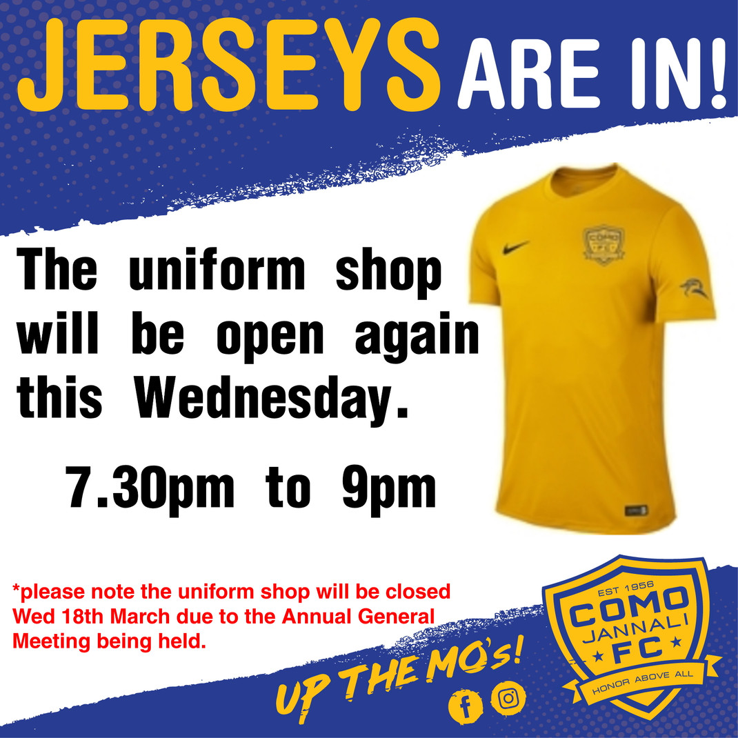 Come Collect Your Jerseys!