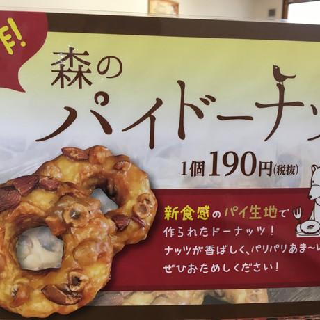 新作!森のパイドーナッツ