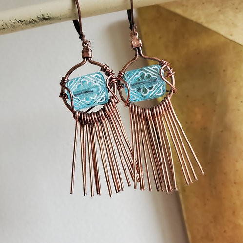 Clear Skies and Trails Earrings