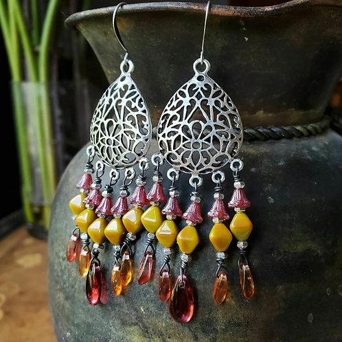 Softly Fall Arrives Chandelier Earrings
