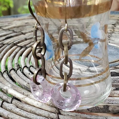 Alexandrite Vintage Glass Hoops