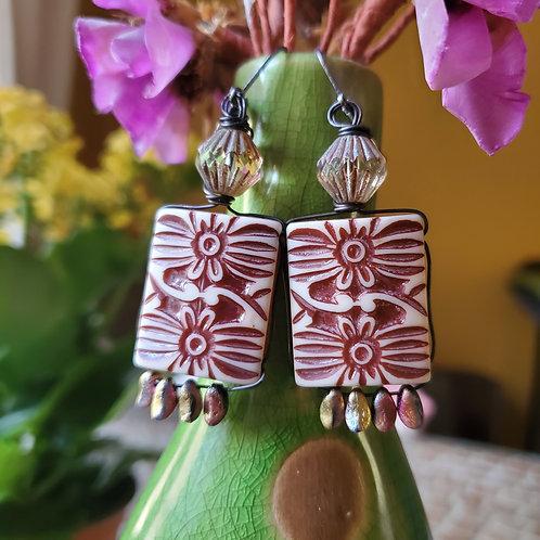 1970s Flower Funk Earrings