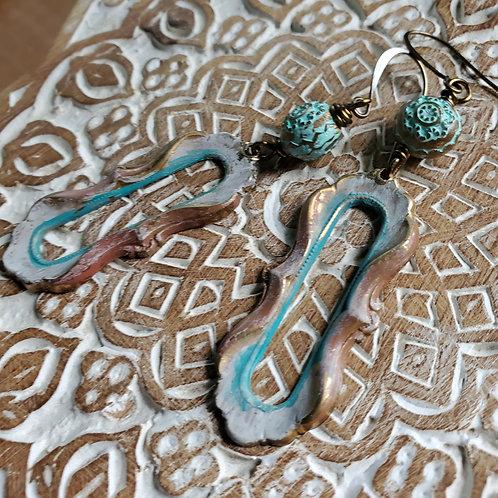 Red Street Stroll Earrings
