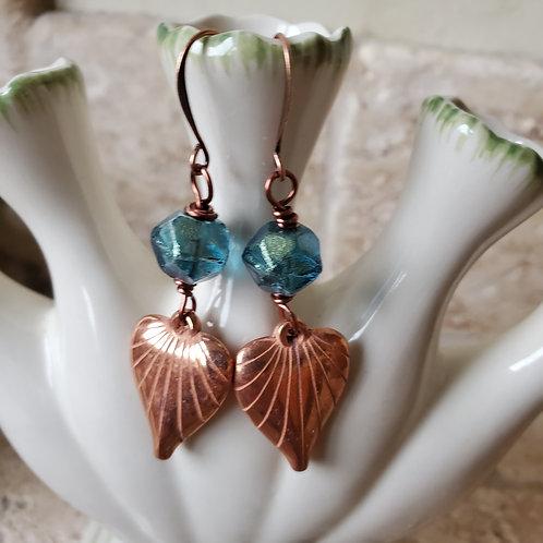 Copper lucite hearts