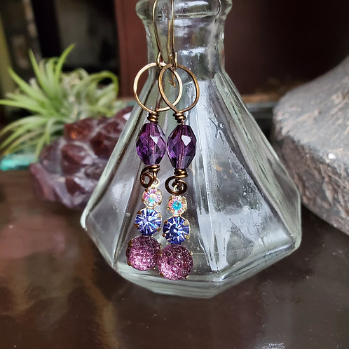 Triple Berry Twist Earrings