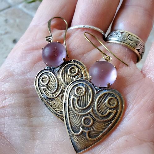 Art deco hearts