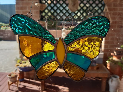 Butterfly Sun Catcher Stained Glass / Leadlight