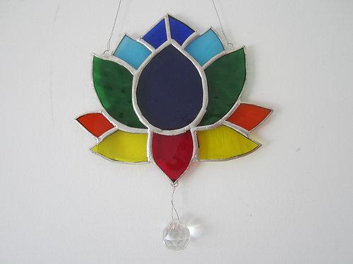 Lotus Flower Chakra  Sun Catcher stained glass / leadlight