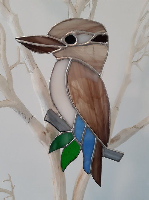Australian Kookaburra Sun Catcher Stained Glass / Leadlight