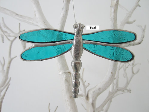 Dragonfly Sun Catcher Stained Glass / Leadlight