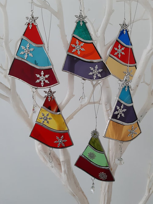 Christmas Tree Decorations No:1 Stained Glass / Leadlight