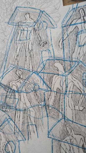 Desenhos e pinturas.
