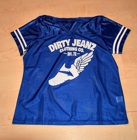 Dirty Jeanz Street Runnerz Football Jersey Royal Blue