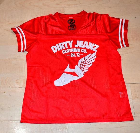 Dirty Jeanz Street Runnerz Football Jersey Red