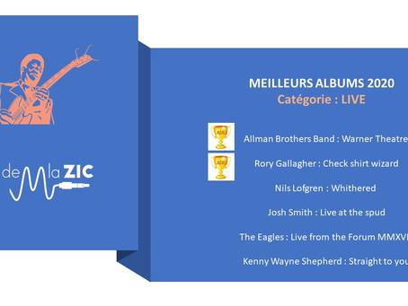 5 Meilleurs Albums LIVE 2020