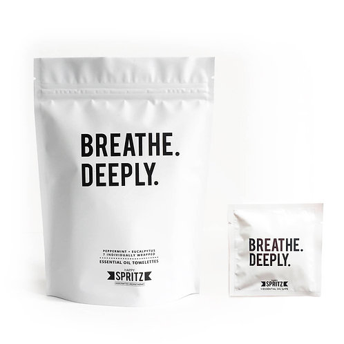 Breathe Deeply Towelettes - 7 Day Bag