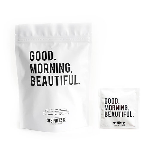 Good Morning Beautiful Towelettes - 7 Day Bag