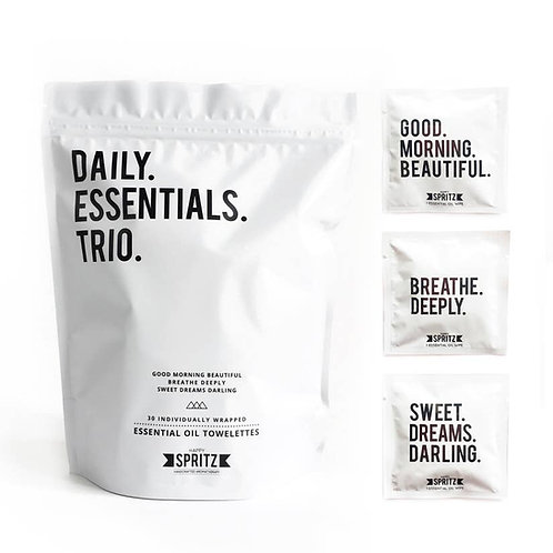 Daily Essentials Trio Mixed Towelettes - 30day bag