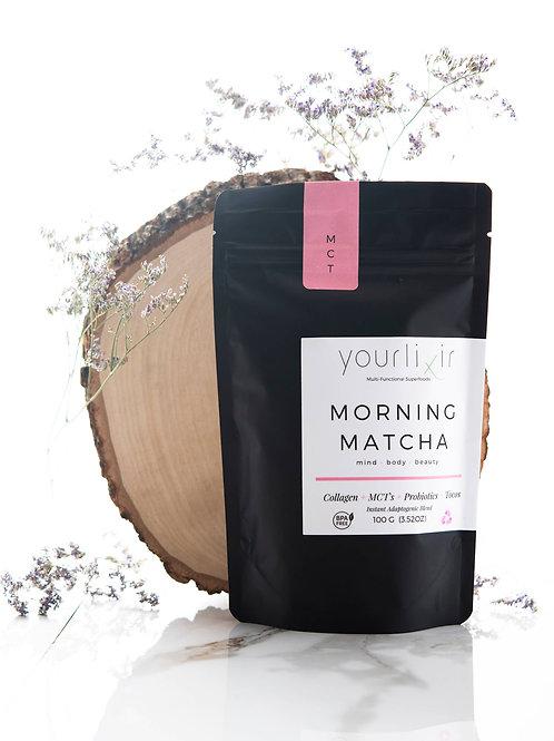 Morning Matcha                           Collagen & Probiotic Matcha Latte Blend