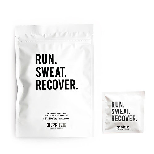 Run Sweat Recover Towelettes - 7 day  bag