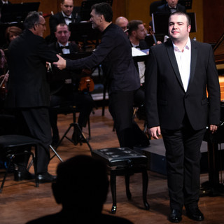 During the concert in Botosani