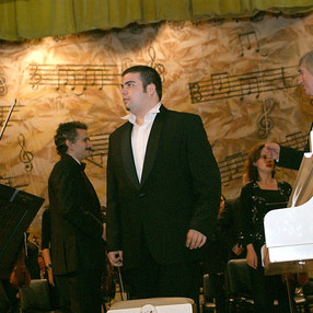 During the concert in Ploiesti